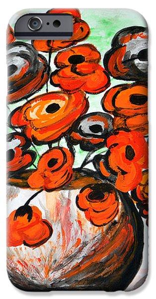Black Poppies iPhone Case by Ramona Matei