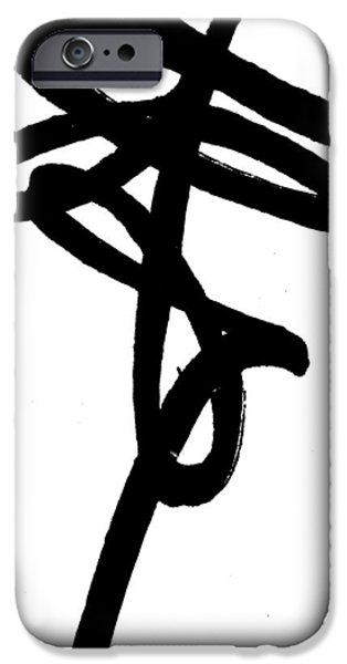 Balck Art iPhone Cases - Black Ray -Minimal Black and White Abstract by Laura Gomez - Vertical Format iPhone Case by Laura  Gomez