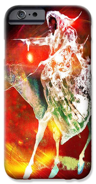 Dungeons iPhone Cases - Black rider I iPhone Case by Joe  Gilronan