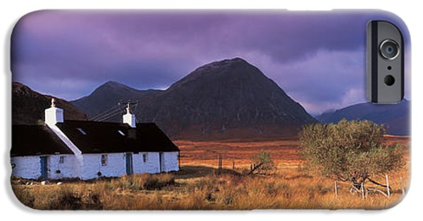 White House iPhone Cases - Black Rock Cottage White Corries iPhone Case by Panoramic Images