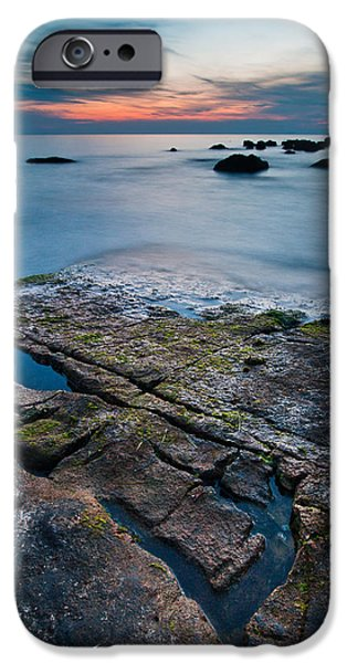 Alga Photographs iPhone Cases - Black rock iPhone Case by Davorin Mance