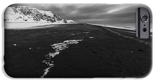 Eerie iPhone Cases - Black Beach iPhone Case by Bahadir Yeniceri