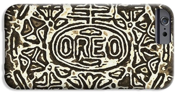 Oreo iPhone Cases - Black Sepia Oreo iPhone Case by Rob Hans