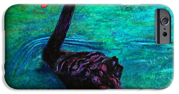 Swans... iPhone Cases - Black Swan iPhone Case by Michael Durst