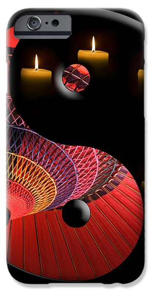Black Tao iPhone Case by Delphimages Photo Creations
