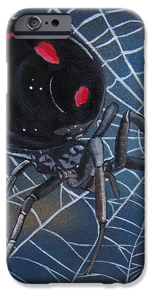 Black Widow iPhone Case by Debbie LaFrance