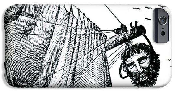 Pirate Drawing iPhone Cases - Blackbeard Edward Teach English Pirate iPhone Case by Photo Researchers