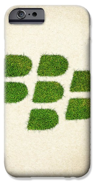 Waste iPhone Cases - Blackberry Grass Logo iPhone Case by Aged Pixel