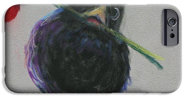 Baby Bird Pastels iPhone Cases - Blackbird Love iPhone Case by Billie Colson