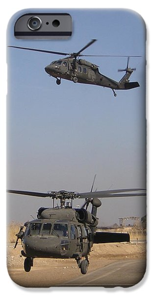 Recently Sold -  - Baghdad iPhone Cases - Blackhawk Departure iPhone Case by Duwayne Williams