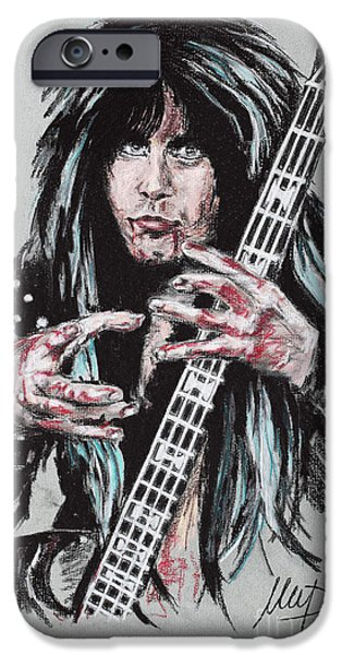 Bassist iPhone Cases - Blackie Lawless iPhone Case by Melanie D