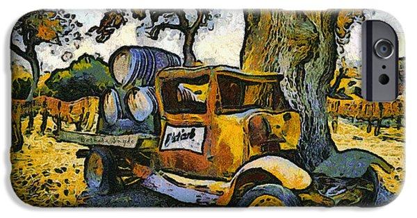 Vineyard Photograph iPhone Cases - Blackjack Winery Truck Santa Ynez California iPhone Case by Barbara Snyder