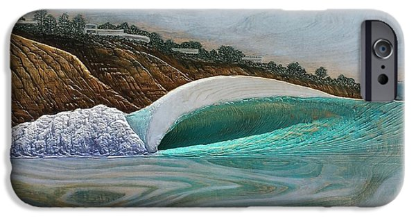 Ocean Reliefs iPhone Cases - Blacks Beach iPhone Case by Nathan Ledyard