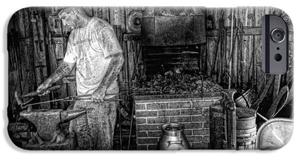 Work Tool iPhone Cases - Blacksmith iPhone Case by Jay Droggitis