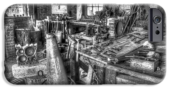 Nineteenth iPhone Cases - Blacksmith Shop This Is The Place iPhone Case by Nick Gray