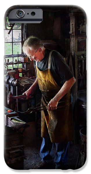 Blacksmith - Starting with a bang  iPhone Case by Mike Savad