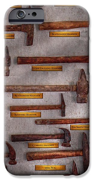 Blacksmith - Tools - Pounding headache  iPhone Case by Mike Savad