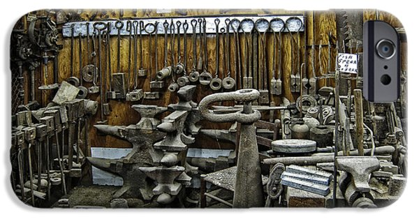 Vise iPhone Cases - BLACKSMITH WORKS - 19th century iPhone Case by Daniel Hagerman