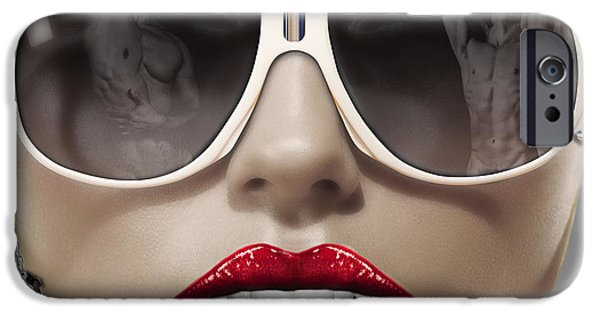 Lips iPhone Cases - Blady Dollar iPhone Case by JanRafael