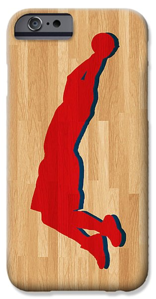 Blake iPhone Cases - Blake Griffin Los Angeles Clippers iPhone Case by Joe Hamilton