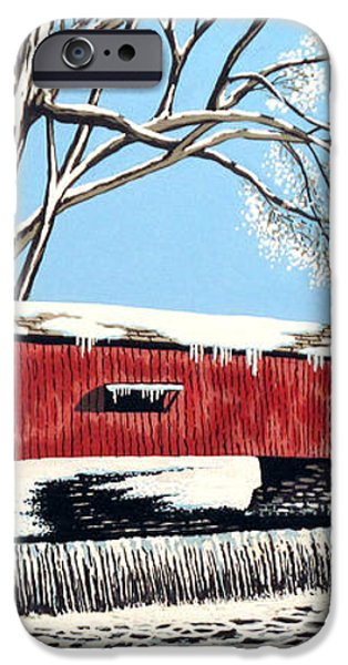 Blankets of Winter iPhone Case by David Linton