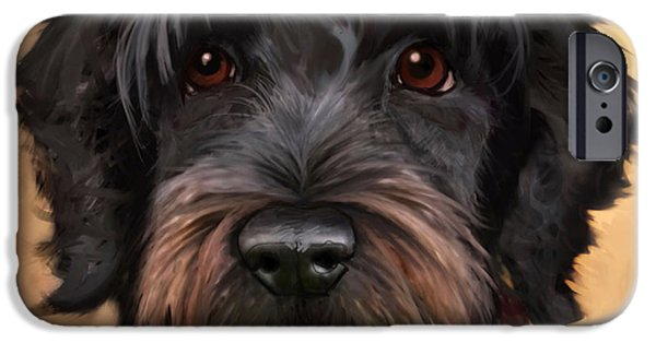 Portrait iPhone Cases - Blaze iPhone Case by Sean ODaniels