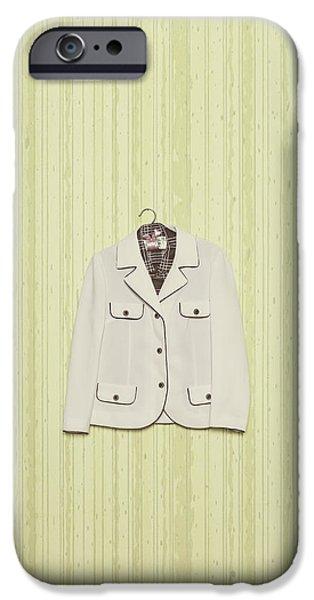 Coat Hanger iPhone Cases - Blazer iPhone Case by Joana Kruse