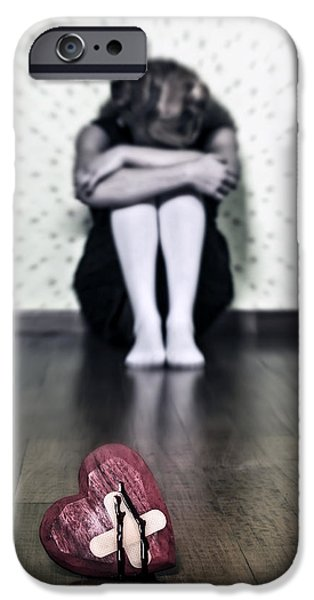bleeding heart iPhone Case by Joana Kruse