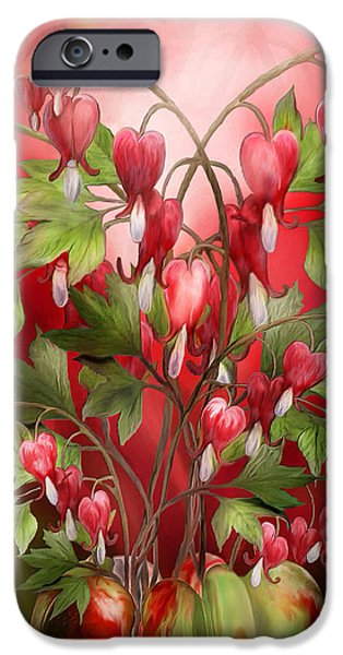 Bleeding Hearts iPhone Cases - Bleeding Hearts Bouquet iPhone Case by Carol Cavalaris