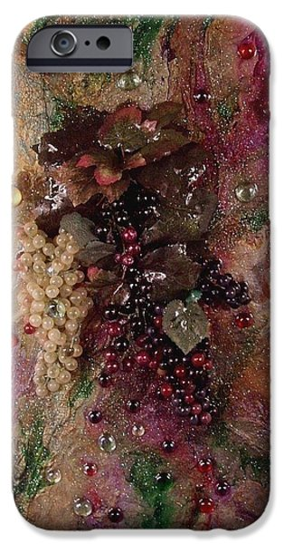 Representative Abstract Mixed Media iPhone Cases - Blended iPhone Case by Patrick Mock