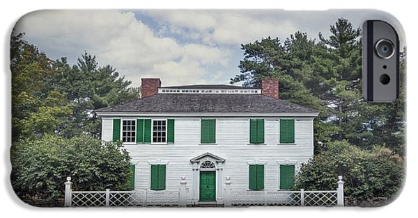 New England Village iPhone Cases - Blessed Assurance iPhone Case by Evelina Kremsdorf