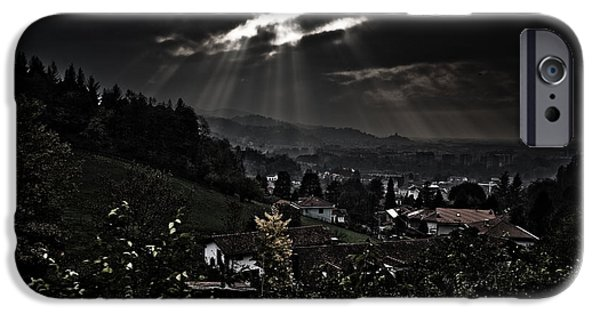 Town iPhone Cases - Blessed by light iPhone Case by Michael  Bjerg