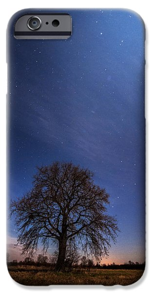Moonscape iPhone Cases - Blessed by the moon iPhone Case by Davorin Mance