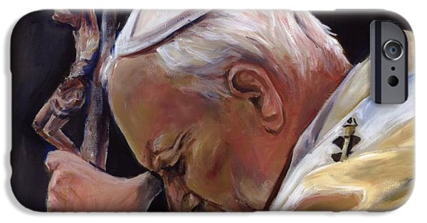 Pope John Paul Ii iPhone Cases - Blessed Pope John Paul II  Image 2 iPhone Case by Sheila Diemert
