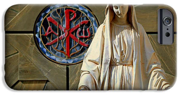 Old Glory iPhone Cases - Blessed Virgin Mary -- Nazareth iPhone Case by Stephen Stookey