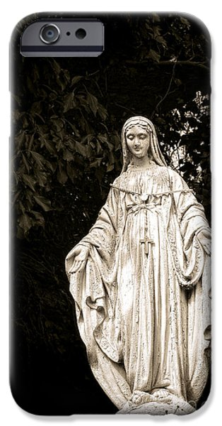 Blessed Virgin Mary iPhone Case by Olivier Le Queinec
