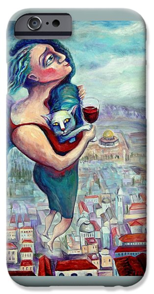 BLESSING OVER THE WINE iPhone Case by Elisheva Nesis