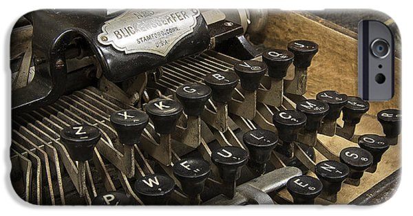 Typewriter Keys iPhone Cases - Blickensderfer No. 5 iPhone Case by Daniel Hagerman