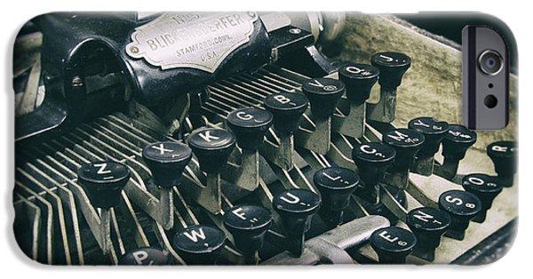 Typewriter Keys iPhone Cases - Blickensderfer Typewriter iPhone Case by Daniel Hagerman