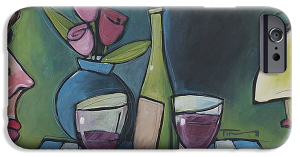 Wine Bottles iPhone Cases - Blind Date with Wine iPhone Case by Tim Nyberg