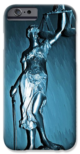 Objectivity iPhone Cases - Blind Justice  iPhone Case by Chris Berry