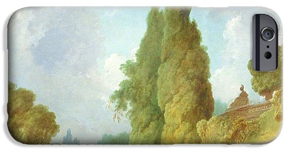 Society iPhone Cases - Blind Mans Buff iPhone Case by Jean-Honore Fragonard