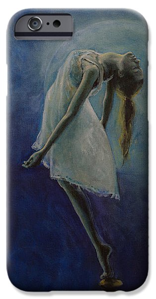 Meditation Paintings iPhone Cases - Bliss iPhone Case by Dorina  Costras