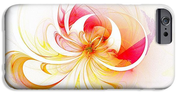 Floral Digital Art Digital Art Digital Art iPhone Cases - Blissful iPhone Case by Amanda Moore