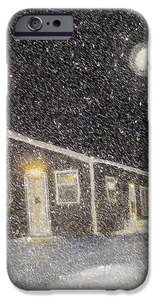 Blizzard at the Cabin iPhone Case by Barbara Griffin