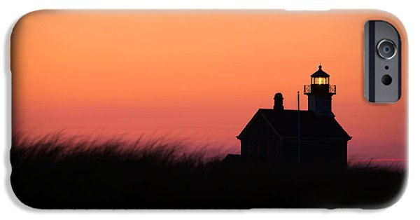 New England Lighthouse iPhone Cases - Block Island North Lighthouse iPhone Case by Diane Diederich