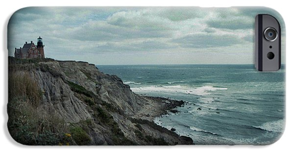 Beautiful Vistas iPhone Cases - Block Island South East Lighthouse iPhone Case by Skip Willits