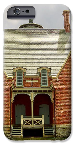 Block Island Southeast Light -Back View iPhone Case by Lourry Legarde
