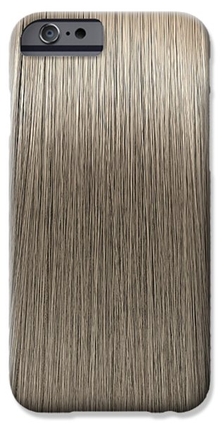 Blonde Hair Perfect Straight iPhone Case by Allan Swart