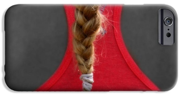Hairstyle Digital iPhone Cases - Blonde Tail  iPhone Case by Steven  Digman